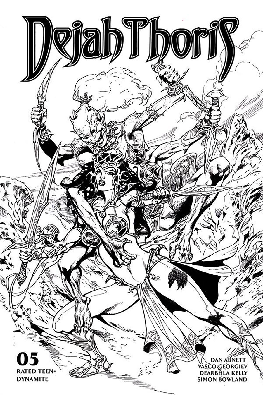Dejah Thoris Vol 3 #5 Cover G Incentive Roberto Castro Black & White Cover