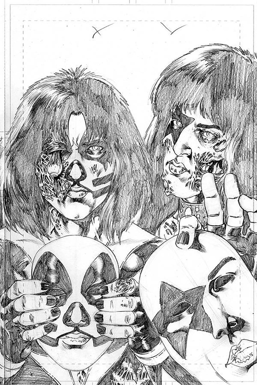 KISS Zombies #5 Cover H Incentive Rodney Buchemi Pencils Cover
