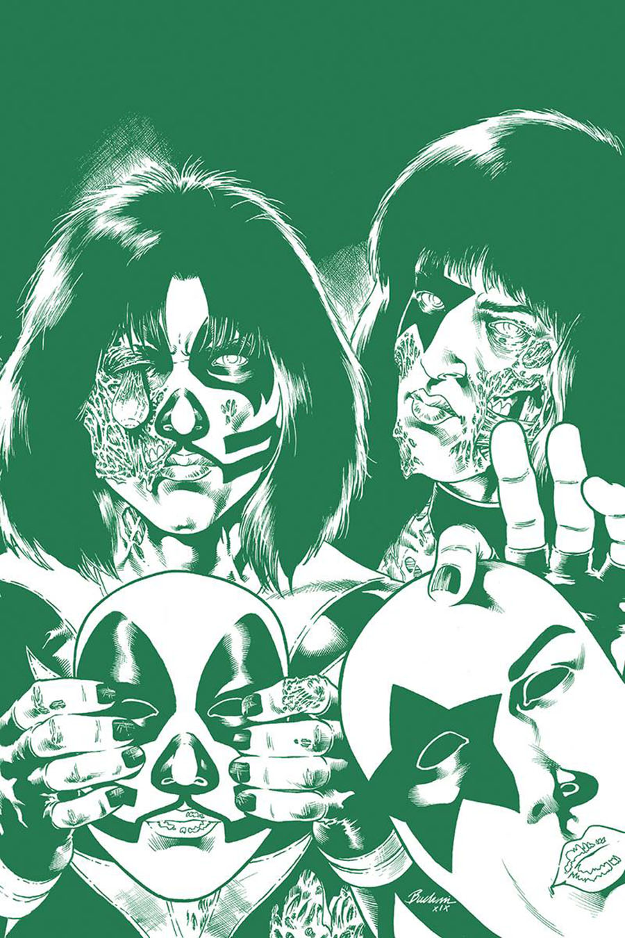 KISS Zombies #5 Cover K Incentive Rodney Buchemi Tint Virgin Cover