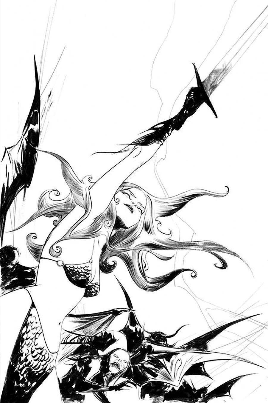 Vampirella Red Sonja #8 Cover O Incentive Jae Lee Black & White Virgin Cover