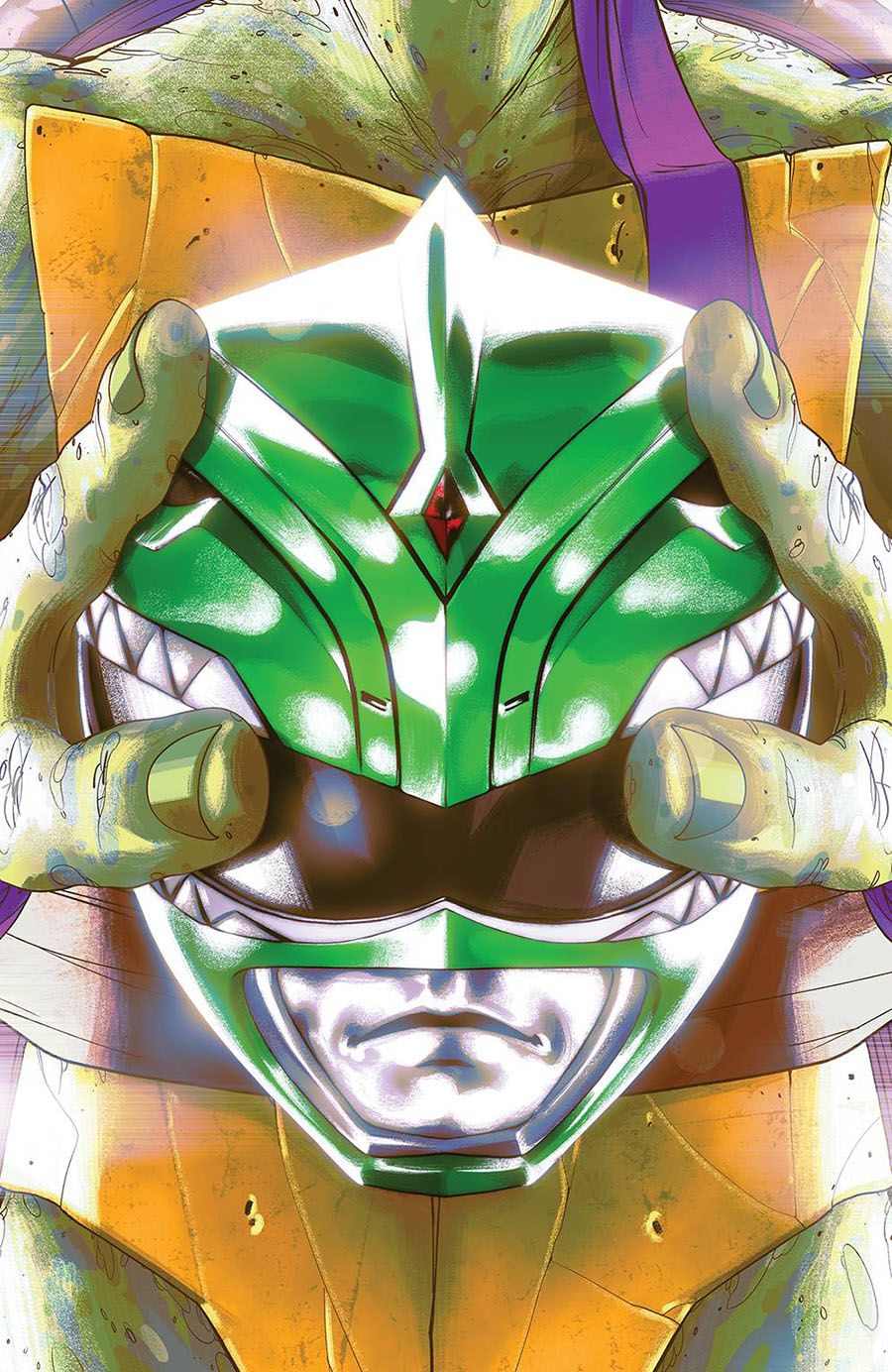 Mighty Morphin Power Rangers Teenage Mutant Ninja Turtles #5 Cover G Incentive Goni Montes Variant Cover