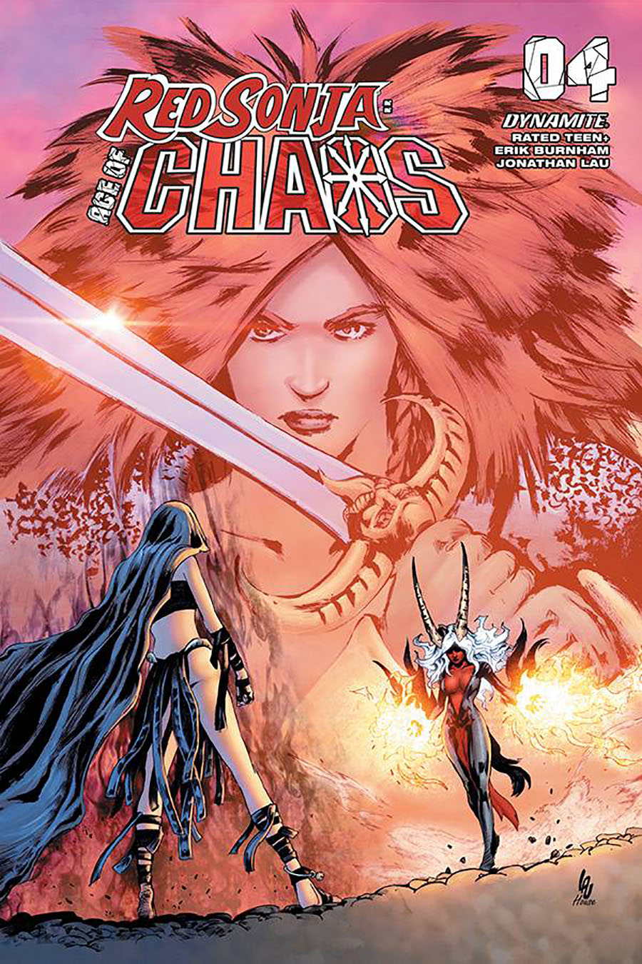 Red Sonja Age Of Chaos #4 Cover G Variant Jonathan Lau Cover
