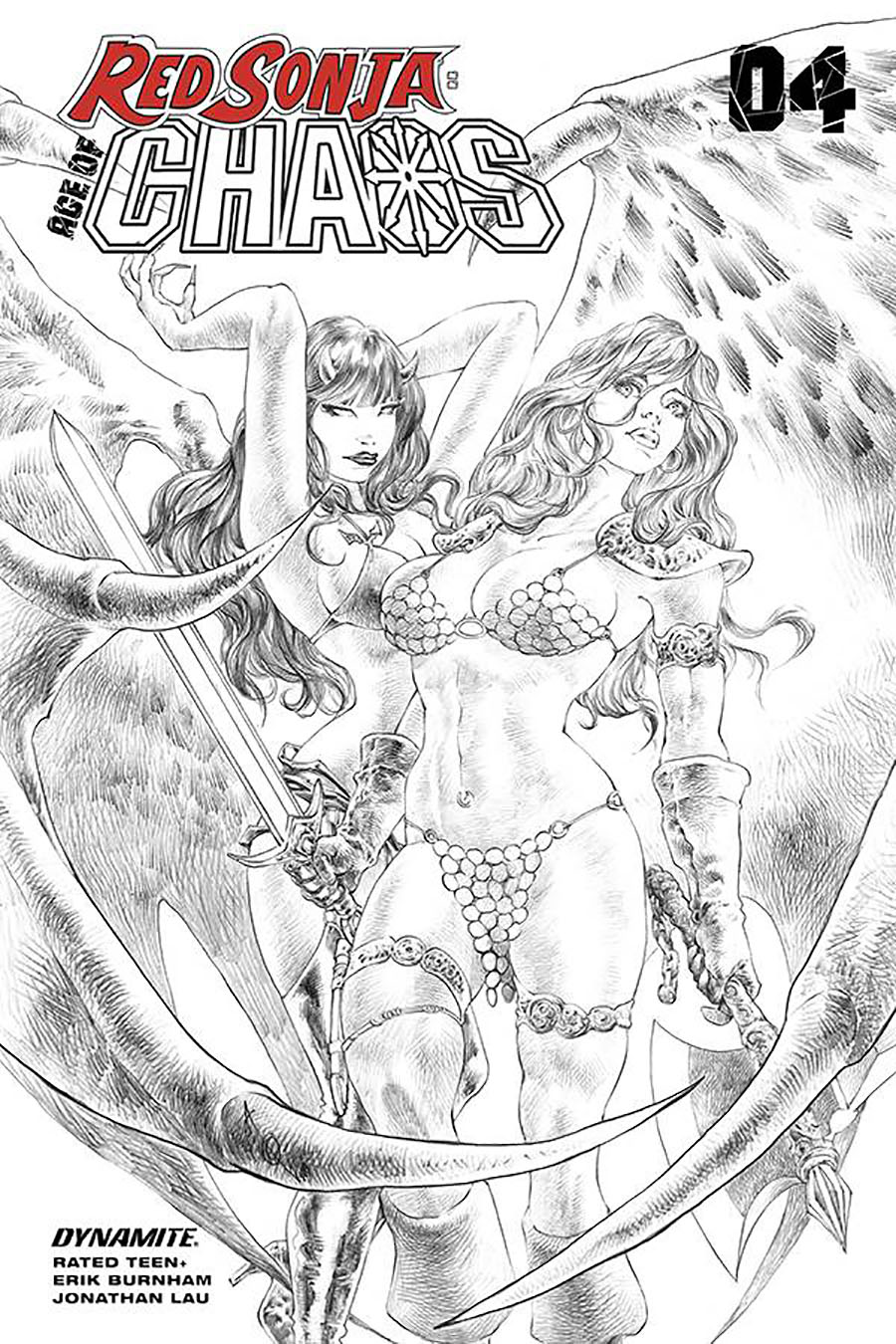 Red Sonja Age Of Chaos #4 Cover I Incentive Alan Quah Sketch Cover