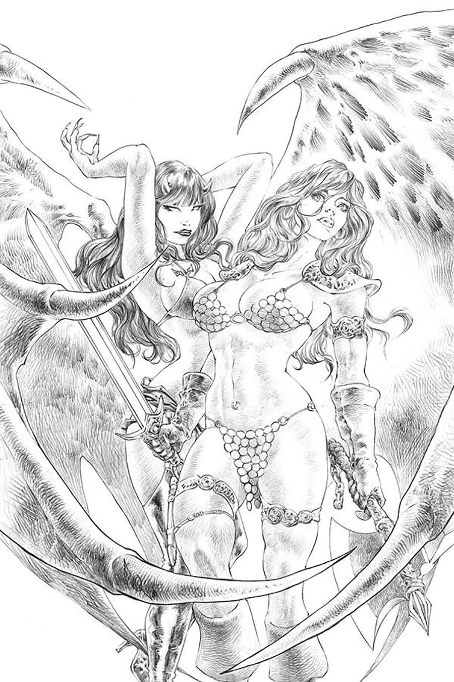 Red Sonja Age Of Chaos #4 Cover K Incentive Alan Quah Sketch Virgin Cover
