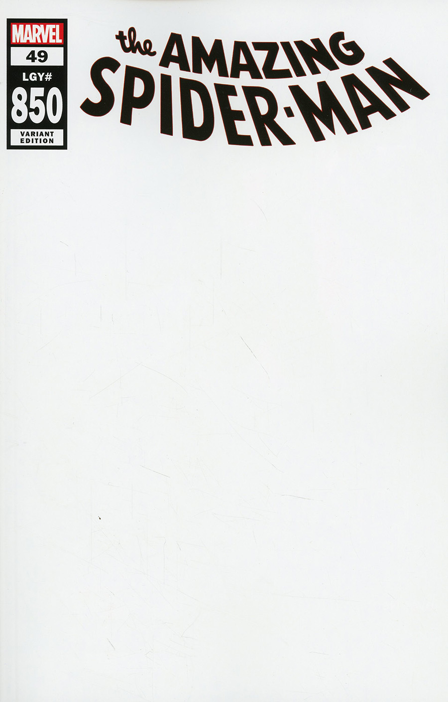 Amazing Spider-Man Vol 5 #49 Cover M Variant Blank Cover (#850)