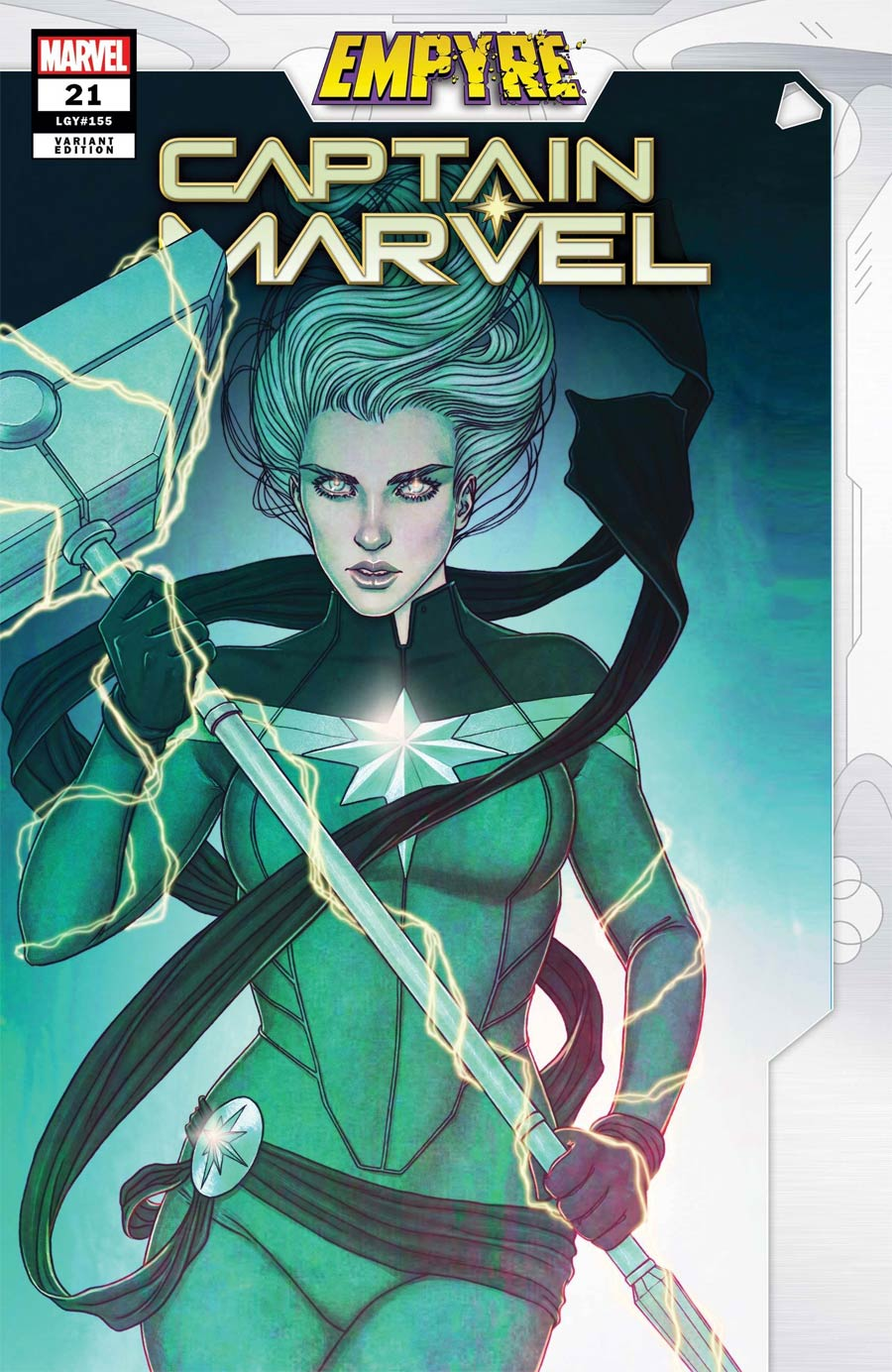 Captain Marvel Vol 9 #21 Cover B Variant Jenny Frison Empyre Cover (Empyre Tie-In)