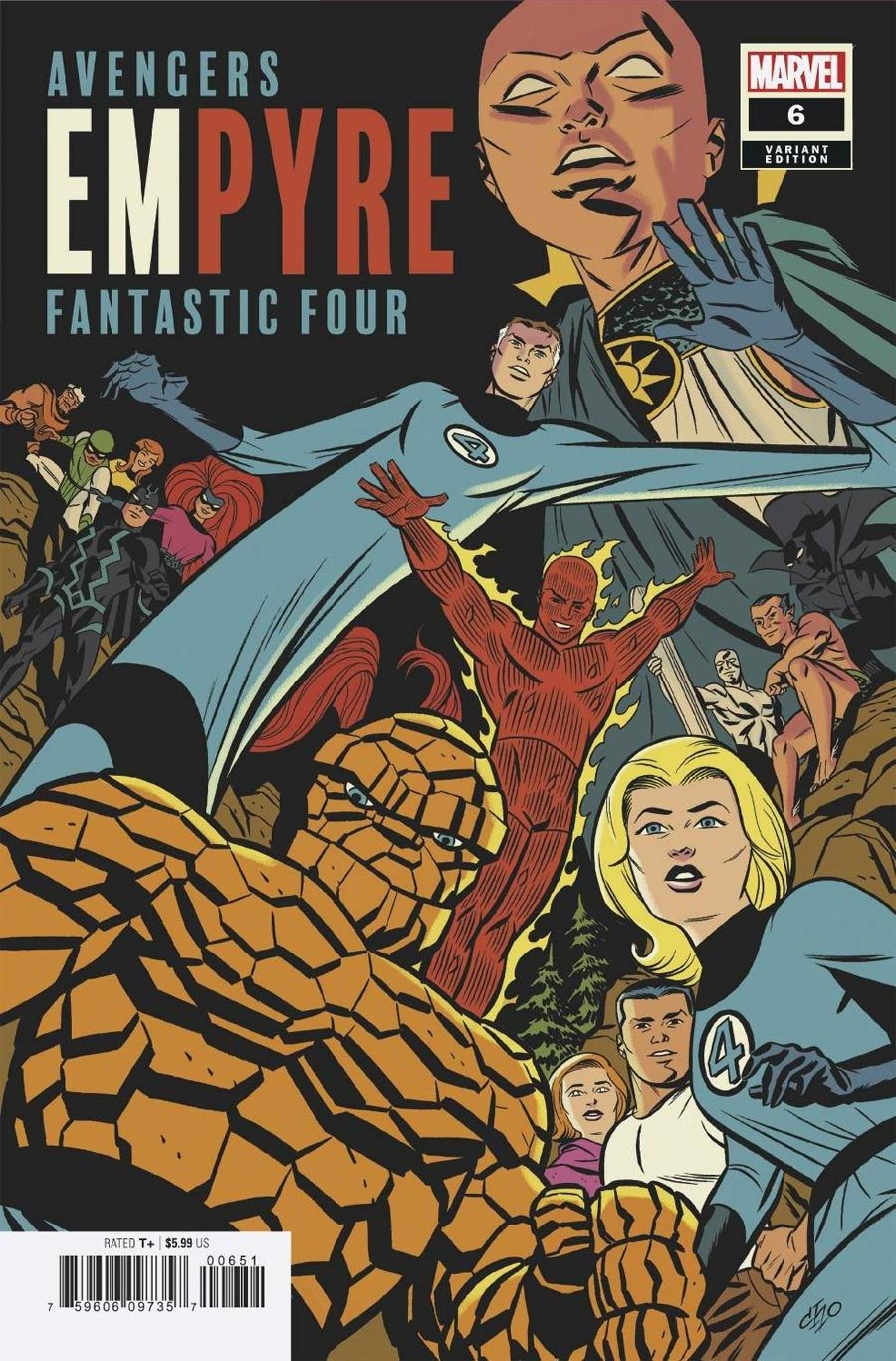 Empyre #6 Cover D Variant Michael Cho Fantastic Four Cover