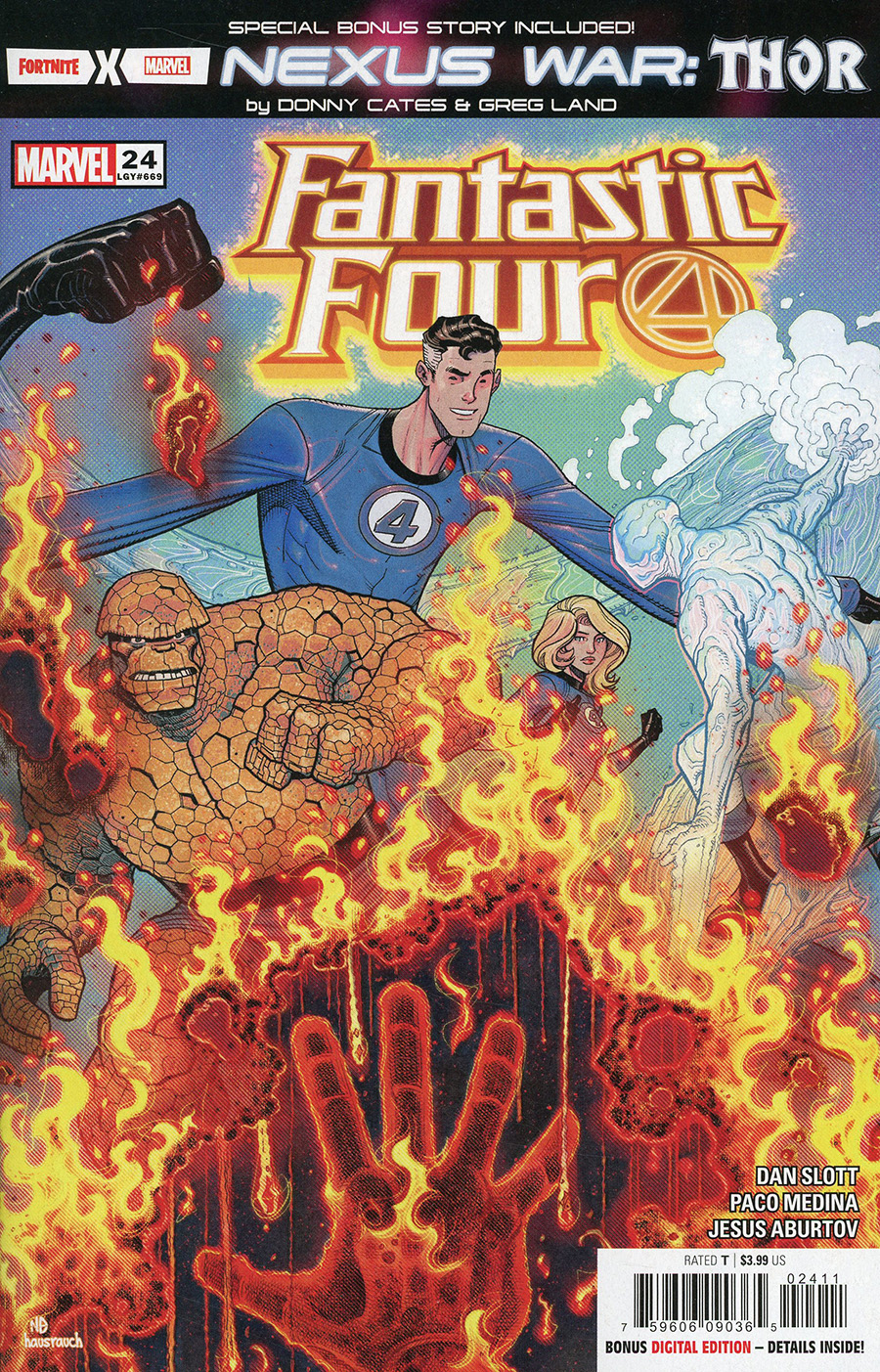 Fantastic Four Vol 6 #24 Cover A 1st Ptg Regular Nick Bradshaw Cover