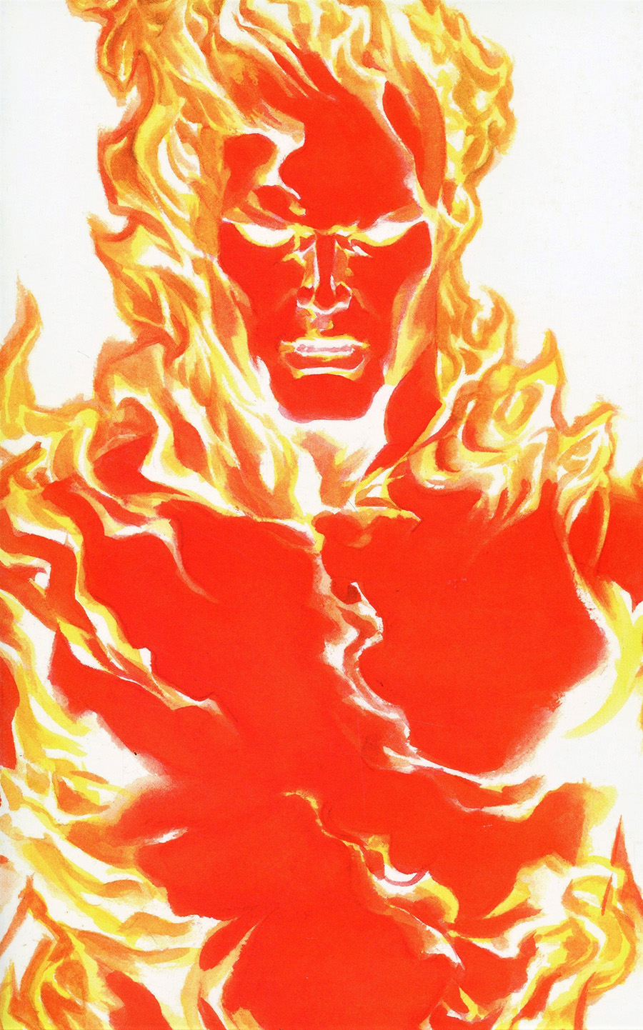 Fantastic Four Vol 6 #24 Cover B Variant Alex Ross Timeless Human Torch Cover (Limit 1 Per Customer)