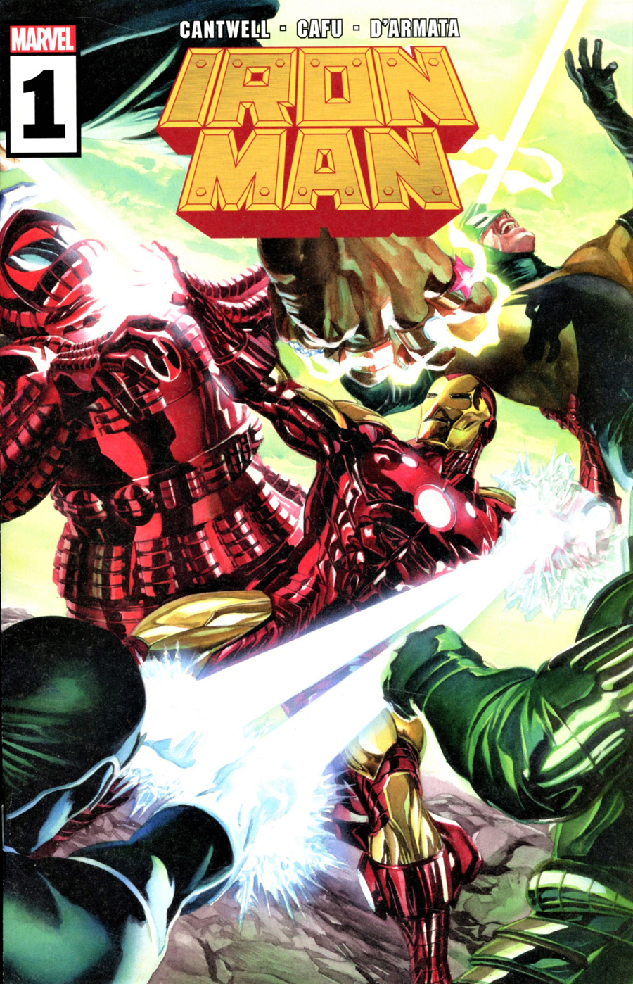Iron Man Vol 6 #1 Cover A Regular Alex Ross Wraparound Cover
