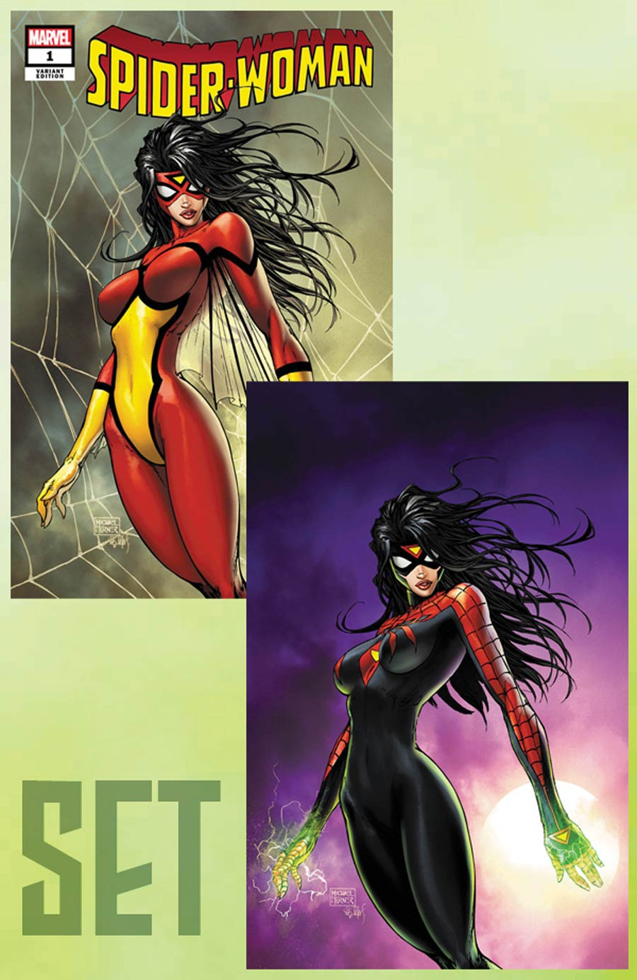Spider-Woman Vol 7 #1 Limited Edition Michael Turner Aspen Variant Cover Set