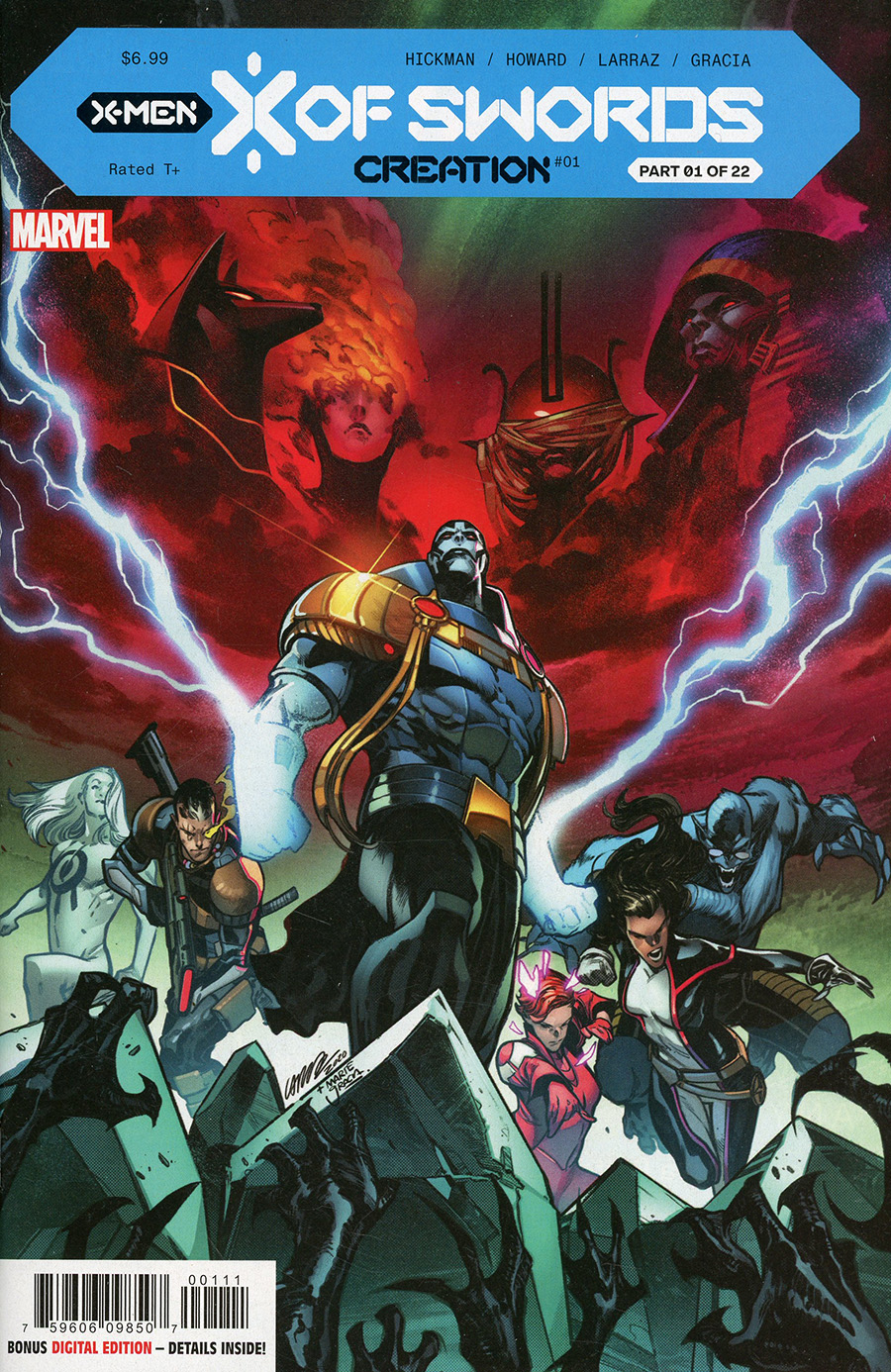 X Of Swords Creation #1 Cover A Pepe Larraz & Mark Brooks Cover (X Of Swords Part 1)