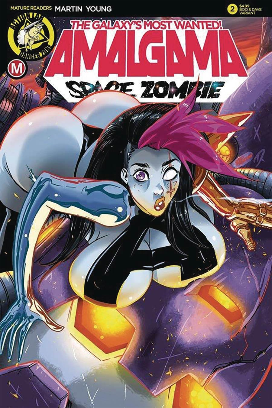 Amalgama Space Zombie Galaxys Most Wanted #2 Cover C Variant Boo Rudetoons Cover