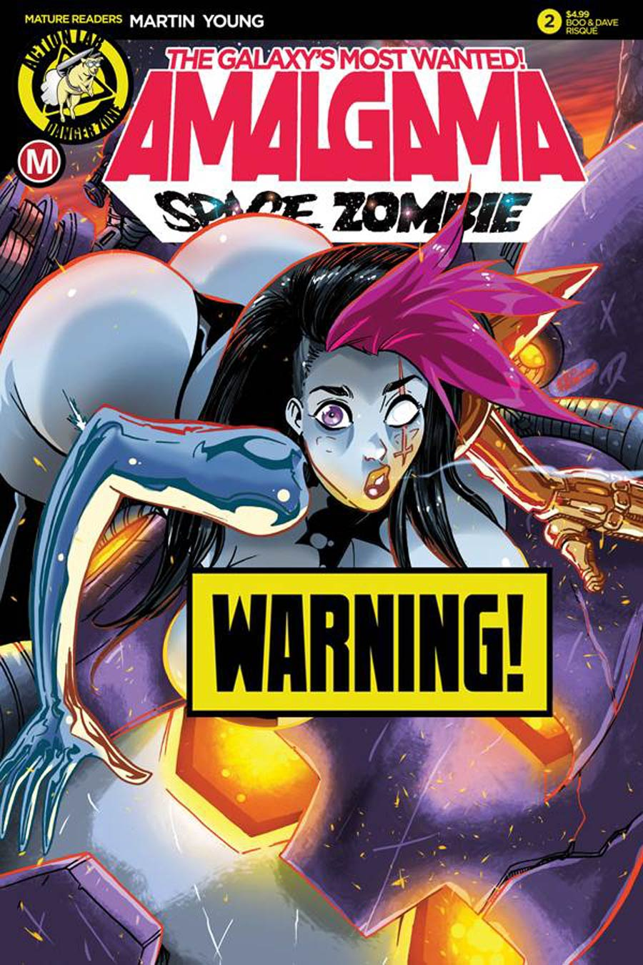 Amalgama Space Zombie Galaxys Most Wanted #2 Cover D Variant Boo Rudetoons Risque Cover