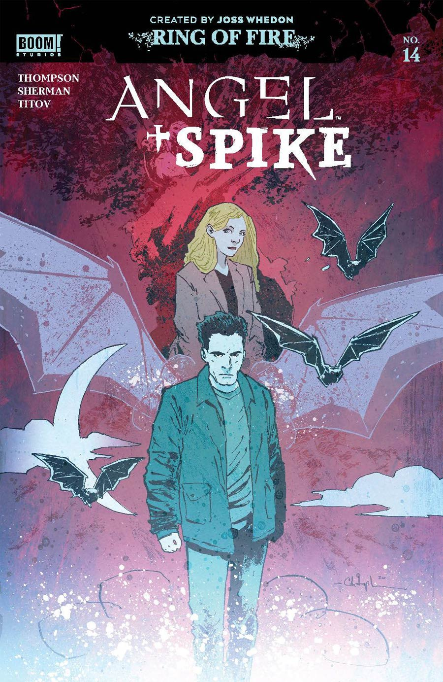 Angel & Spike #14 Cover A Regular Christopher Mitten Cover
