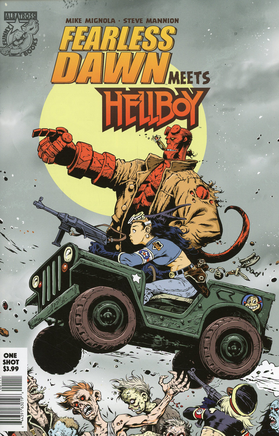 Fearless Dawn Meets Hellboy One Shot Cover A Regular Steve Mannion Cover