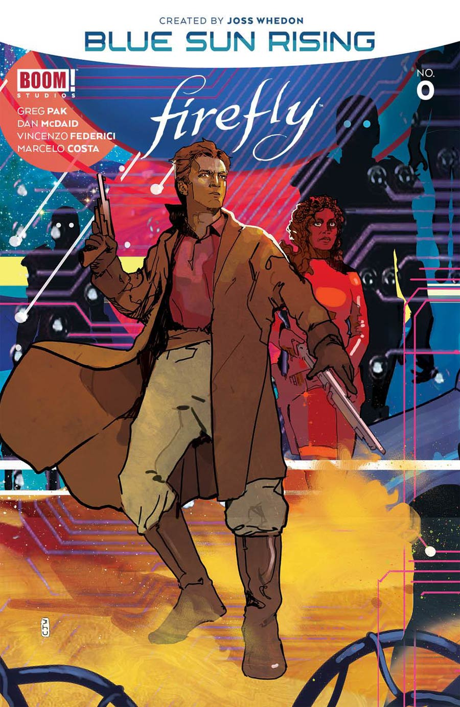 Firefly Blue Sun Rising Alpha #0 Cover B Variant Christian Ward Connecting Cover