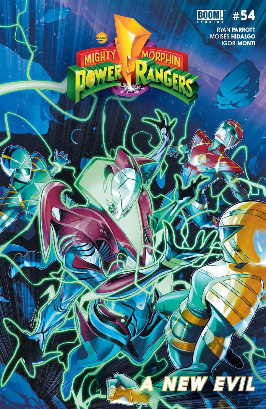 Mighty Morphin Power Rangers (BOOM Studios) #54 Cover A Regular Jamal Campbell Cover