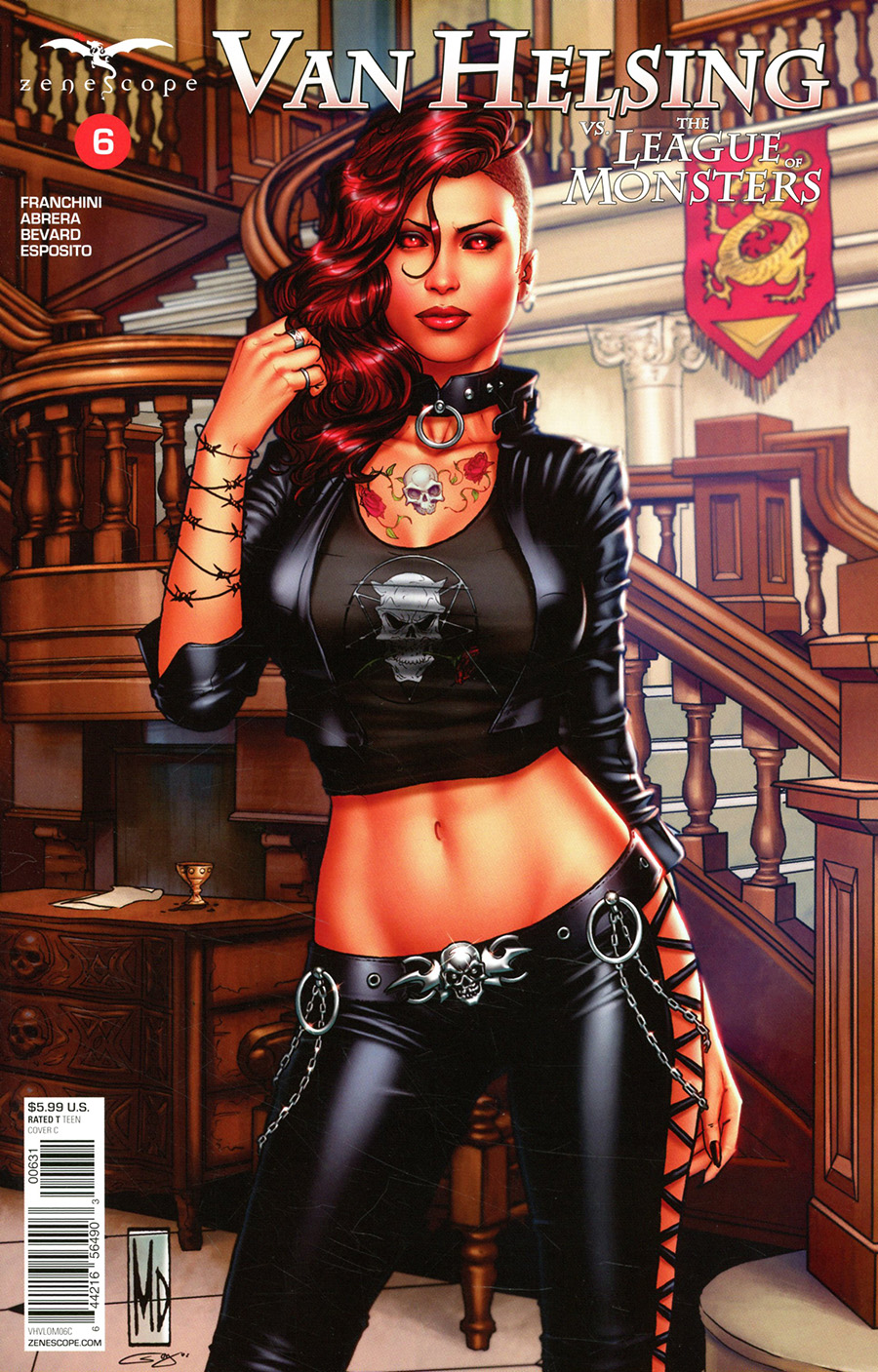 Grimm Fairy Tales Presents Van Helsing vs The League Of Monsters #6 Cover C Michael DiPascale