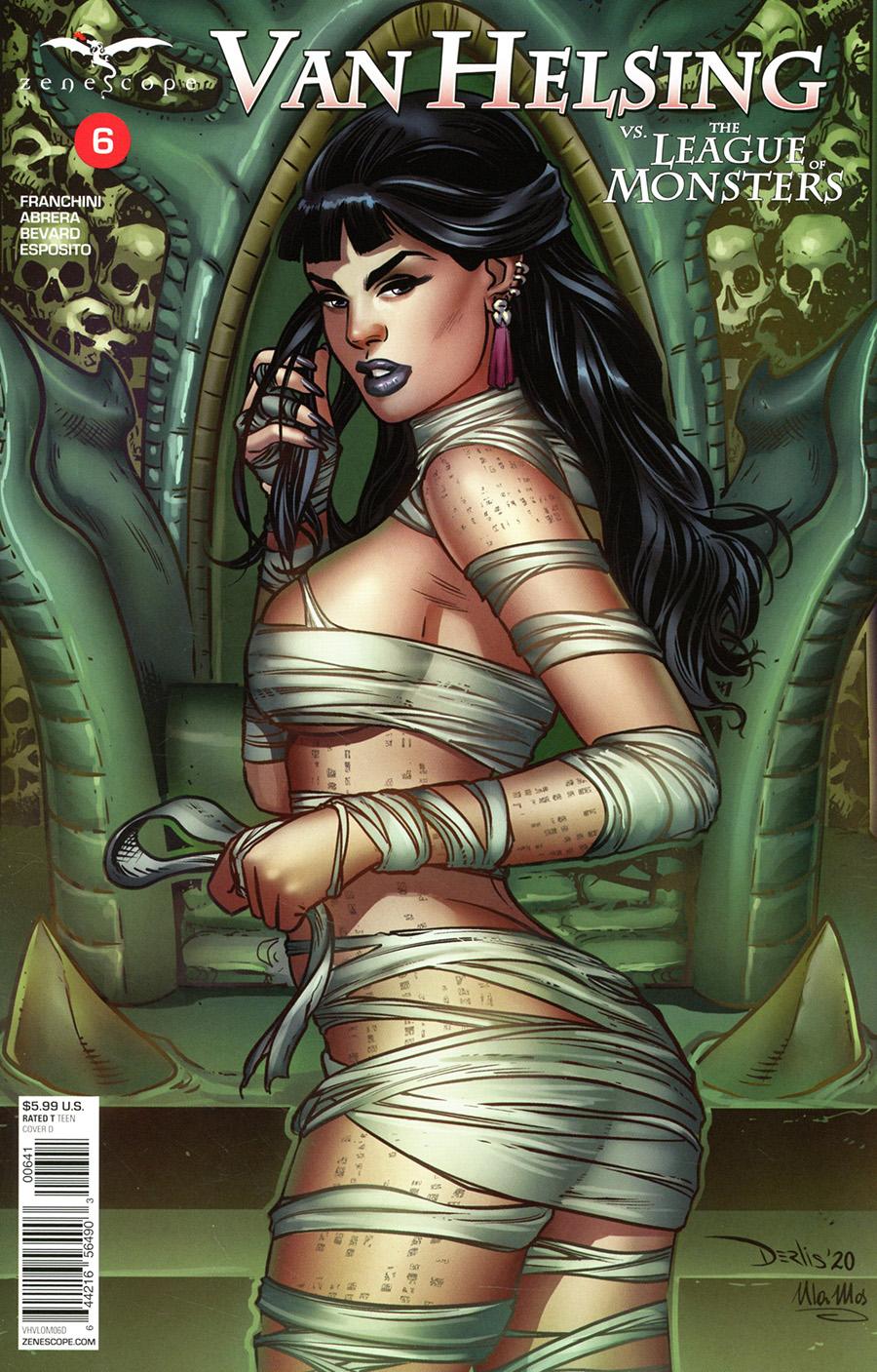 Grimm Fairy Tales Presents Van Helsing vs The League Of Monsters #6 Cover D Derlis Santacruz