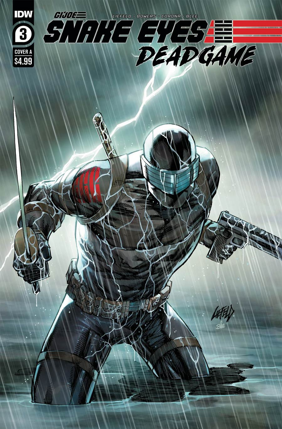 Snake Eyes Deadgame #3 Cover A Regular Rob Liefeld Cover