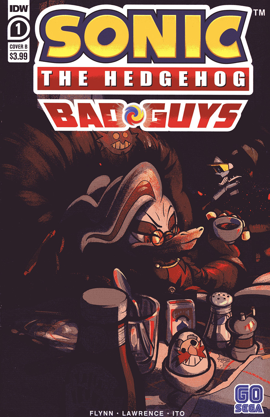 Sonic The Hedgehog Bad Guys #1 Cover B Variant Diana Skelly Cover