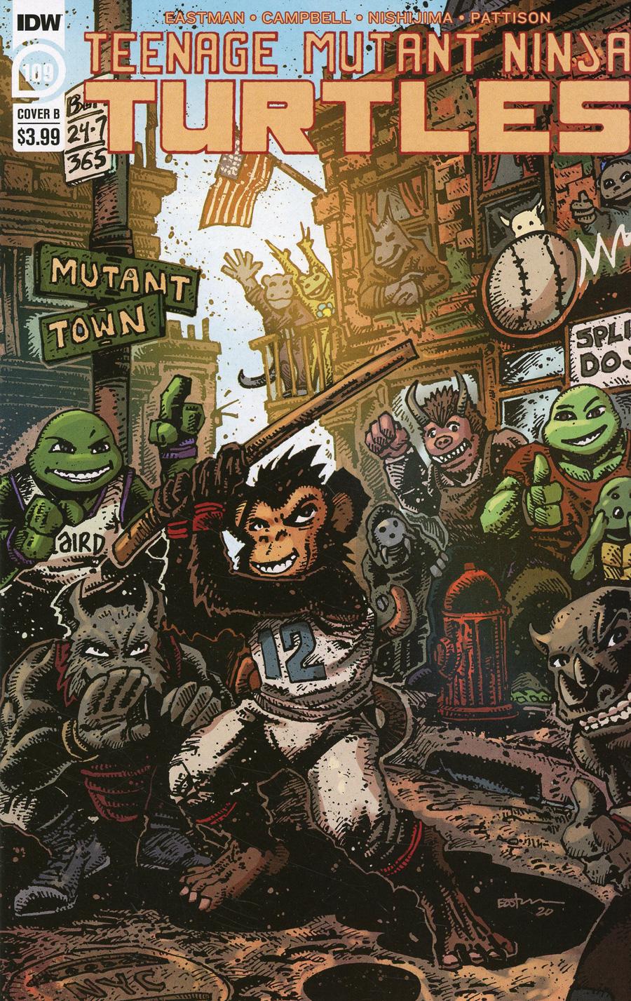 Teenage Mutant Ninja Turtles Vol 5 #109 Cover B Variant Kevin Eastman Cover