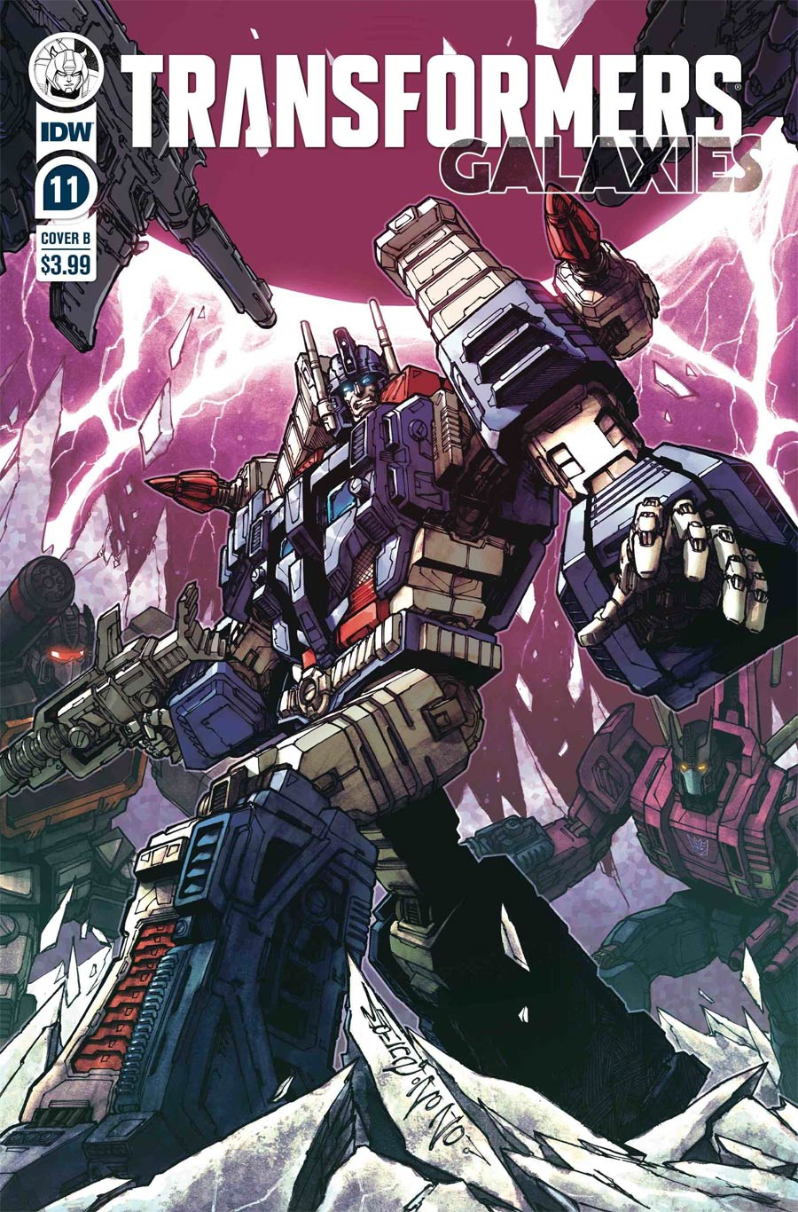 Transformers Galaxies #11 Cover B Variant Alex Milne Cover