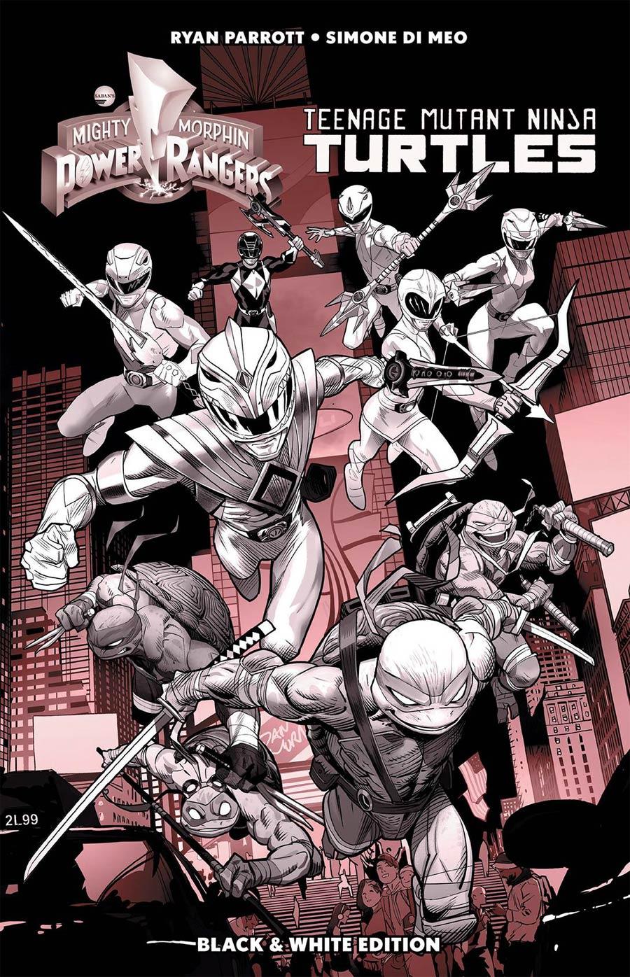 Mighty Morphin Power Rangers Teenage Mutant Ninja Turtles Black & White HC
