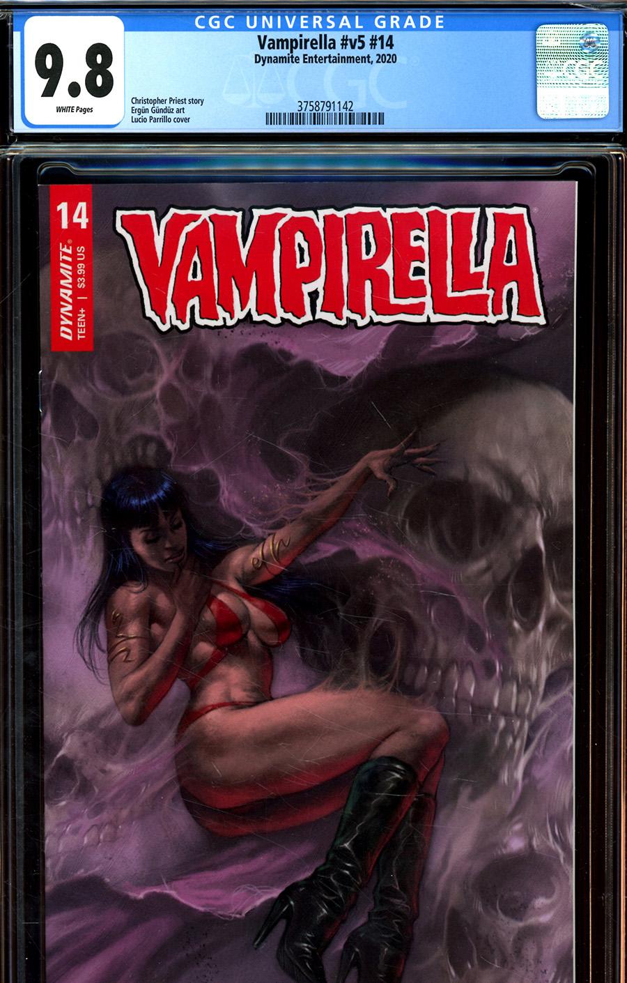 Vampirella Vol 8 #14 Cover Z Regular Lucio Parrillo Cover CGC Graded