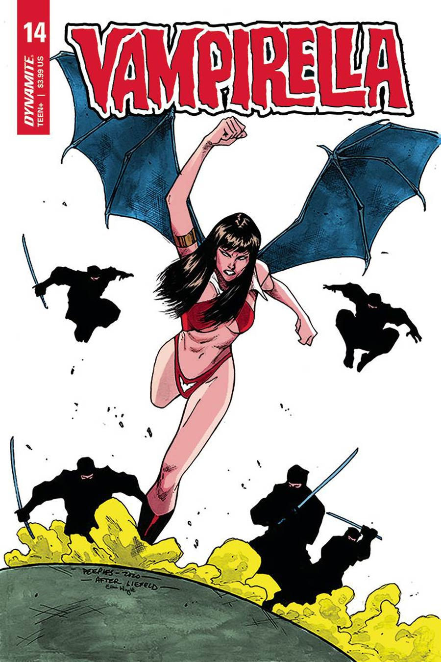 Vampirella Vol 8 #14 Cover H Incentive Brent Peeples Rob Liefeld Homage Variant Cover