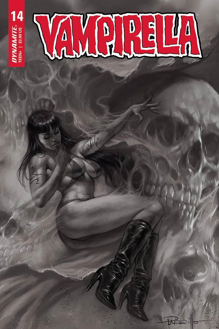 Vampirella Vol 8 #14 Cover J Incentive Lucio Parrillo Black & White Cover