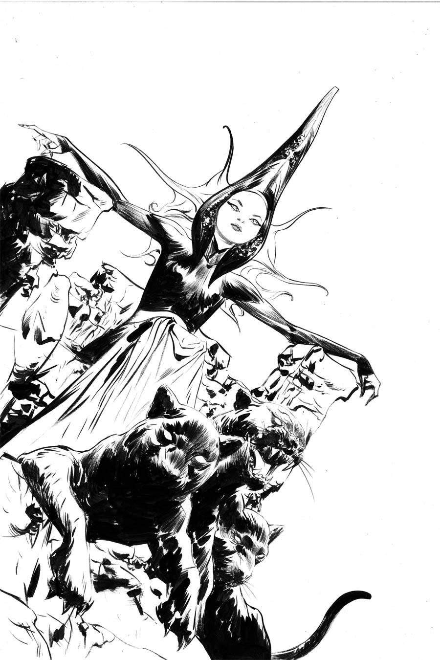 Sacred Six #4 Cover P Incentive Jae Lee Black & White Virgin Cover