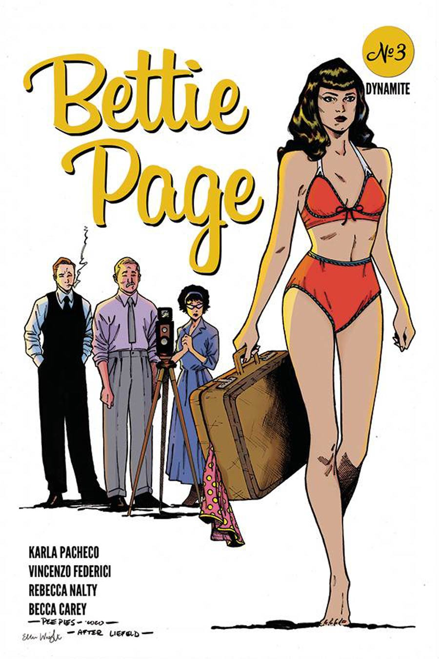Bettie Page Vol 3 #3 Cover G Incentive Brent Peeples Rob Liefeld Homage Variant Cover