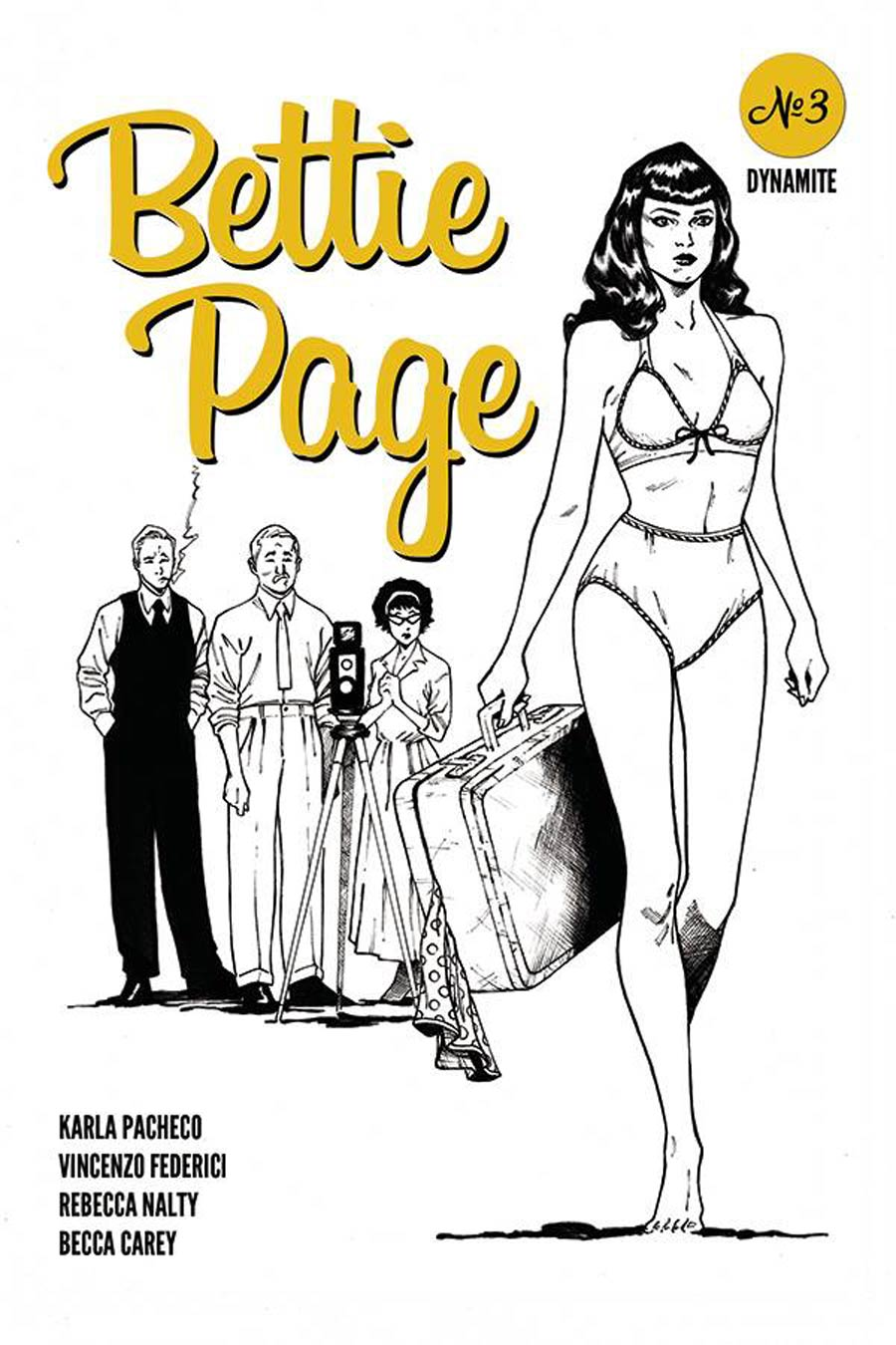 Bettie Page Vol 3 #3 Cover K Incentive Brent Peeples Rob Liefeld Homage Black & White Cover