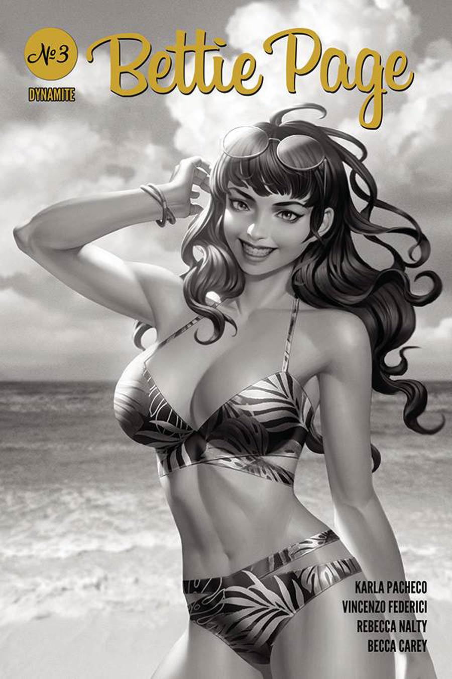 Bettie Page Vol 3 #3 Cover M Incentive Junggeun Yoon Black & White Cover