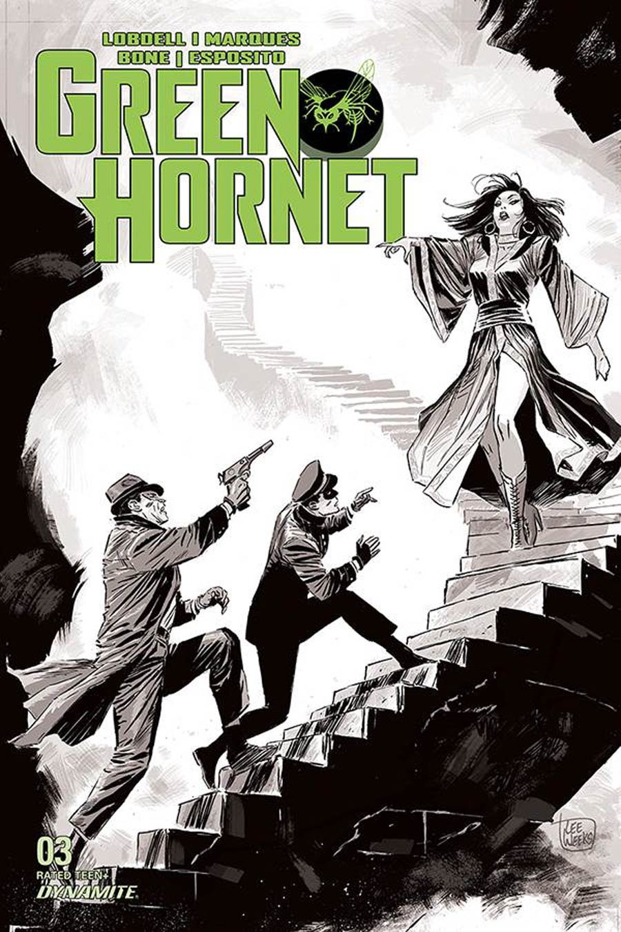 Green Hornet Vol 5 #3 Cover E Incentive Lee Weeks Black & White Cover