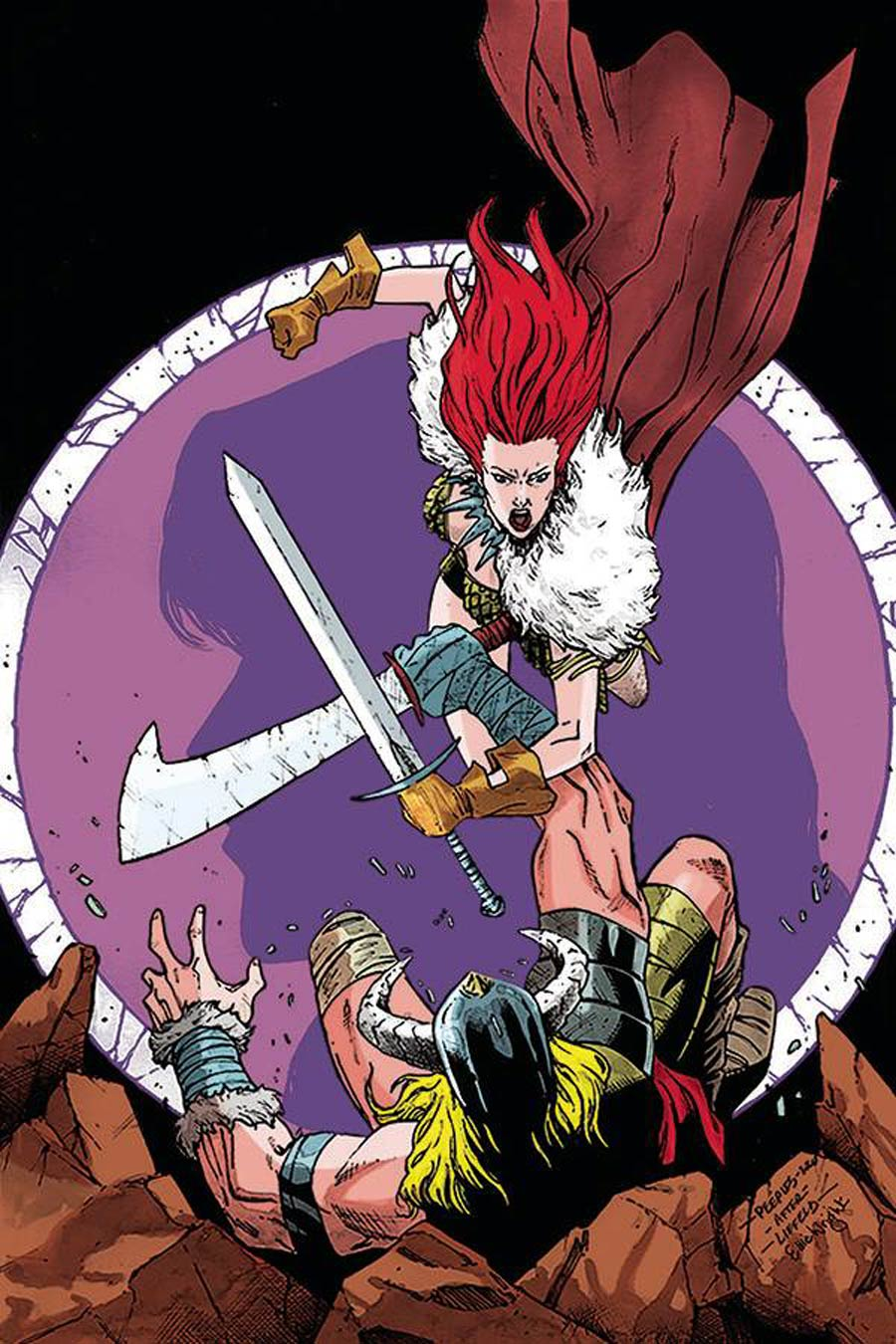 Red Sonja Vol 8 #19 Cover H Incentive Brent Peeples Rob Liefeld Homage Virgin Cover