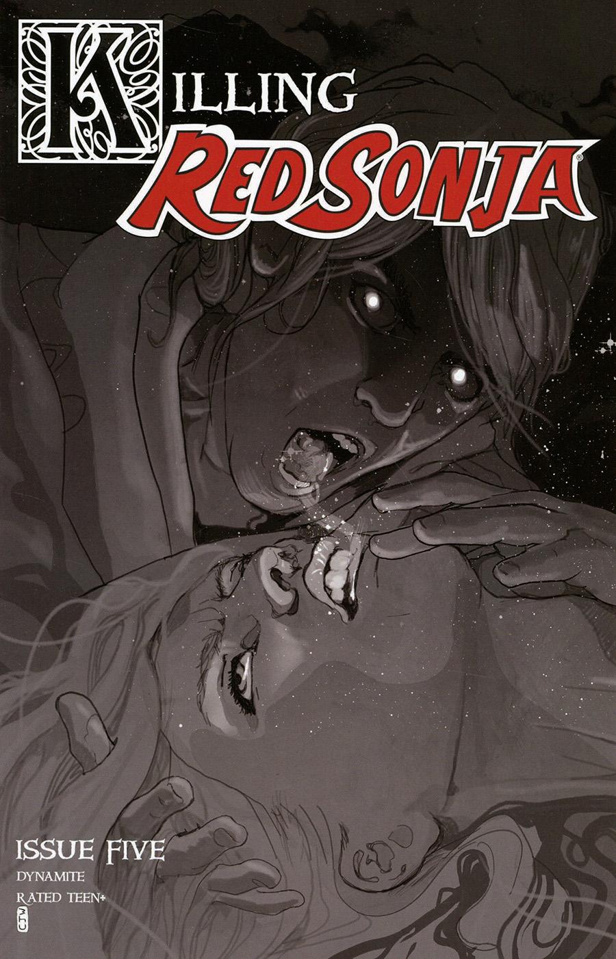 Killing Red Sonja #5 Cover E Incentive Christian Ward Grayscale Cover