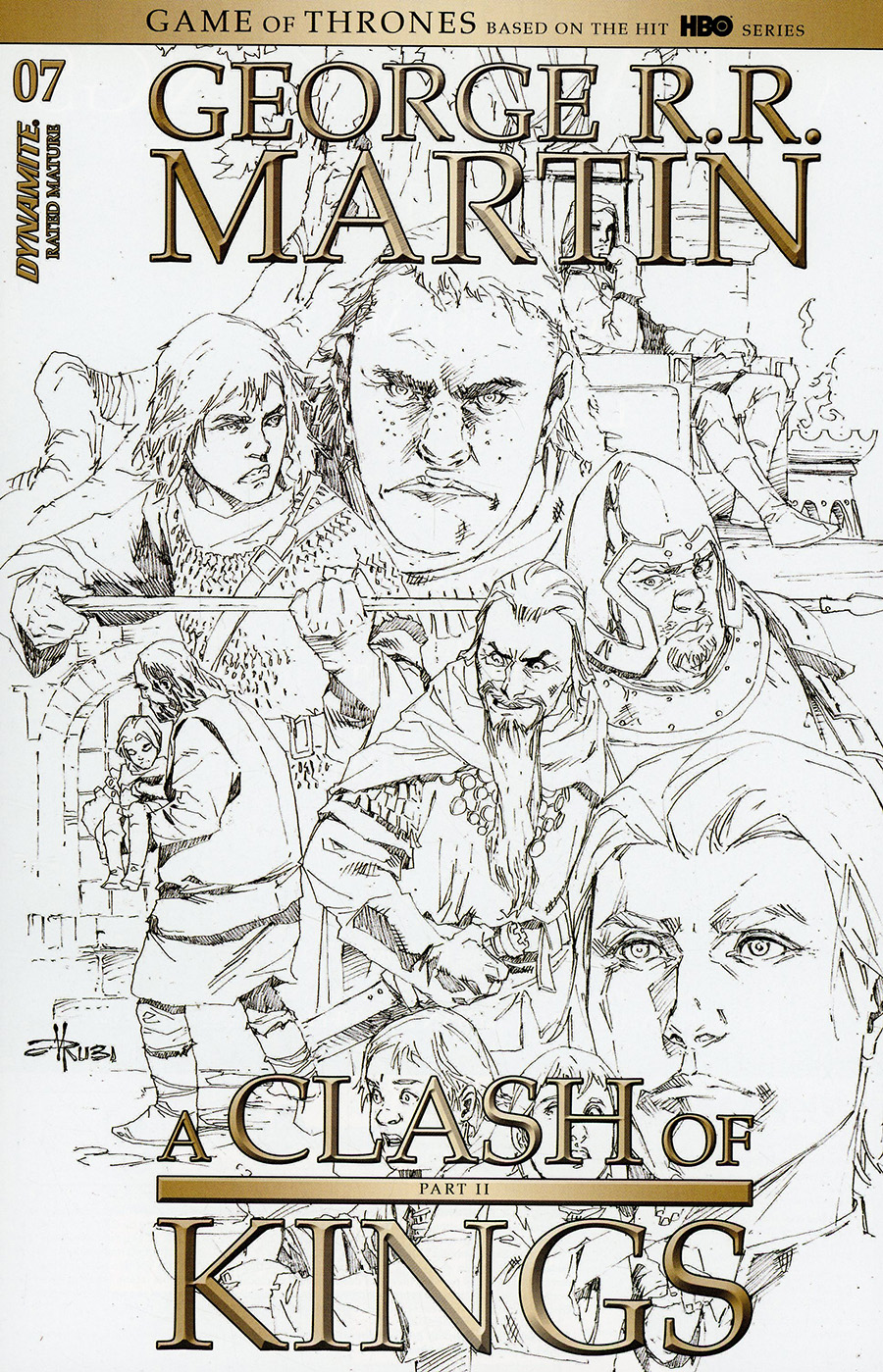 Game Of Thrones Clash Of Kings Vol 2 #7 Cover D Incentive Mel Rubi Black & White Cover