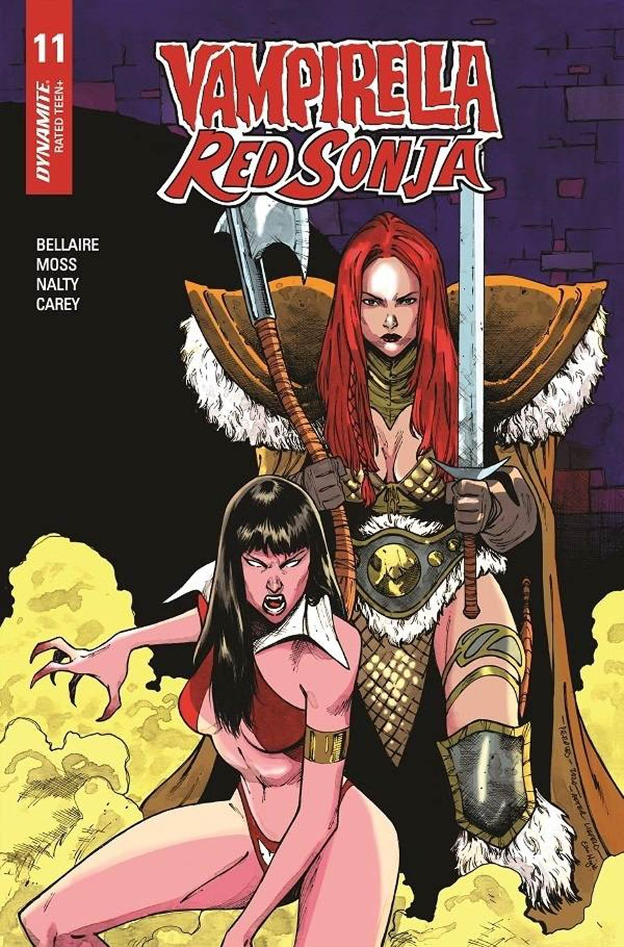 Vampirella Red Sonja #11 Cover G Incentive Brent Peeples Rob Liefeld Homage Variant Cover