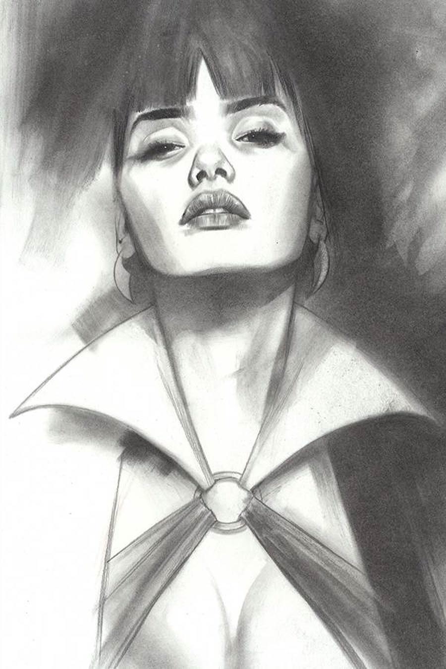 Vengeance Of Vampirella Vol 2 #10 Cover L Incentive Ben Oliver Black & White Cover