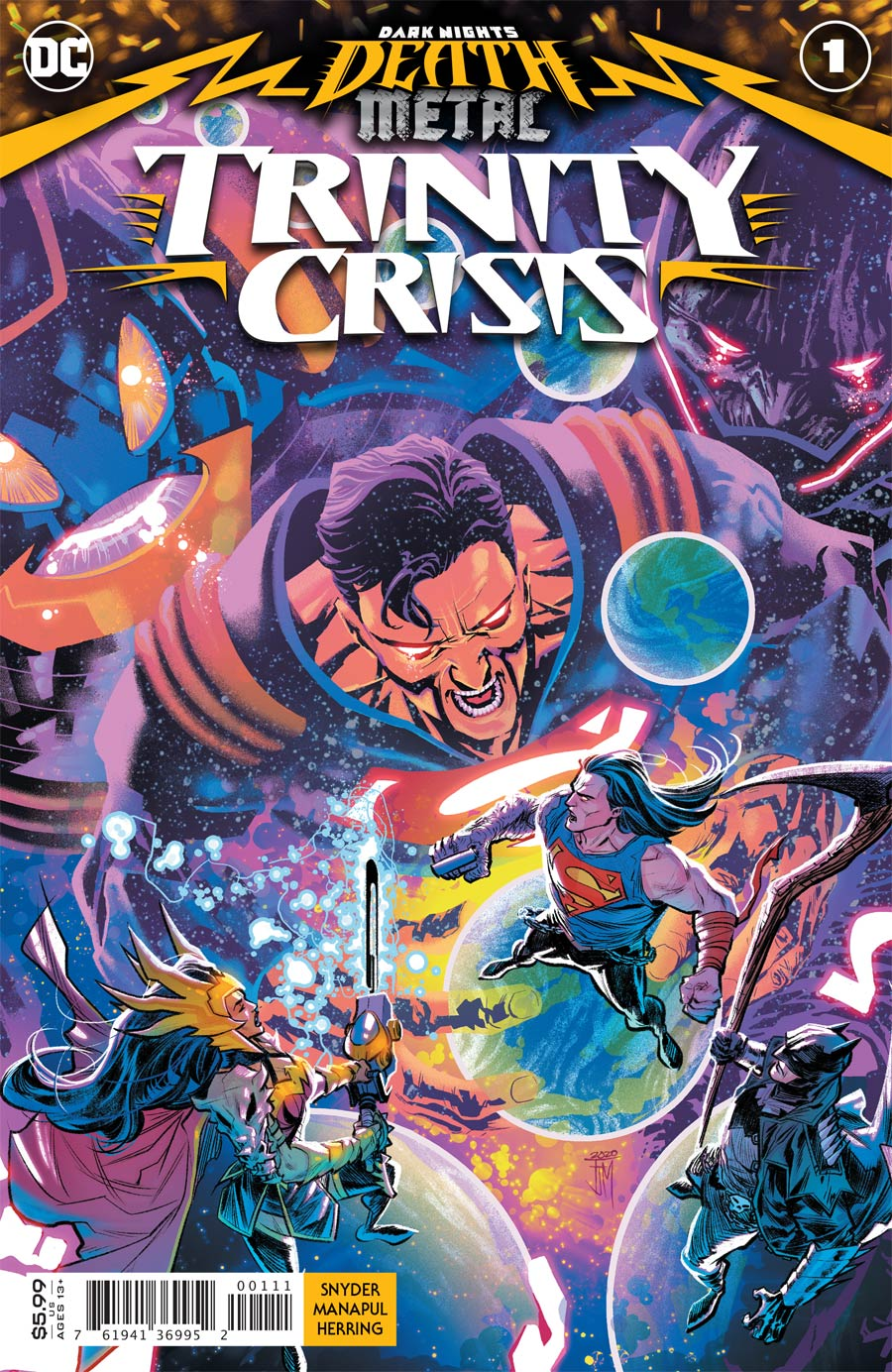 Dark Nights Death Metal Trinity Crisis One Shot Cover A Regular Francis Manapul Card Stock Cover