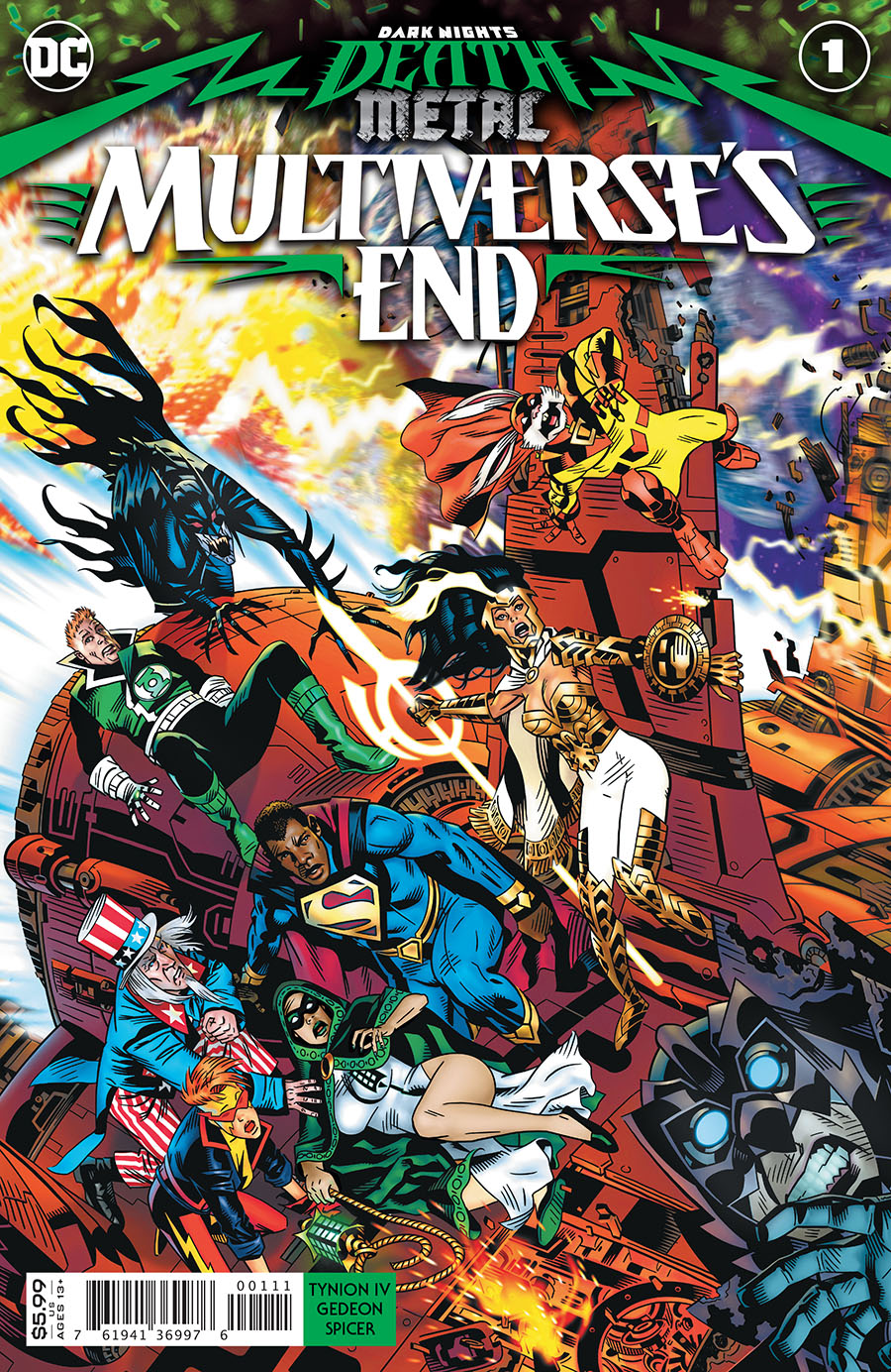 Dark Nights Death Metal Multiverses End One Shot Cover A Regular Michael Golden Card Stock Cover