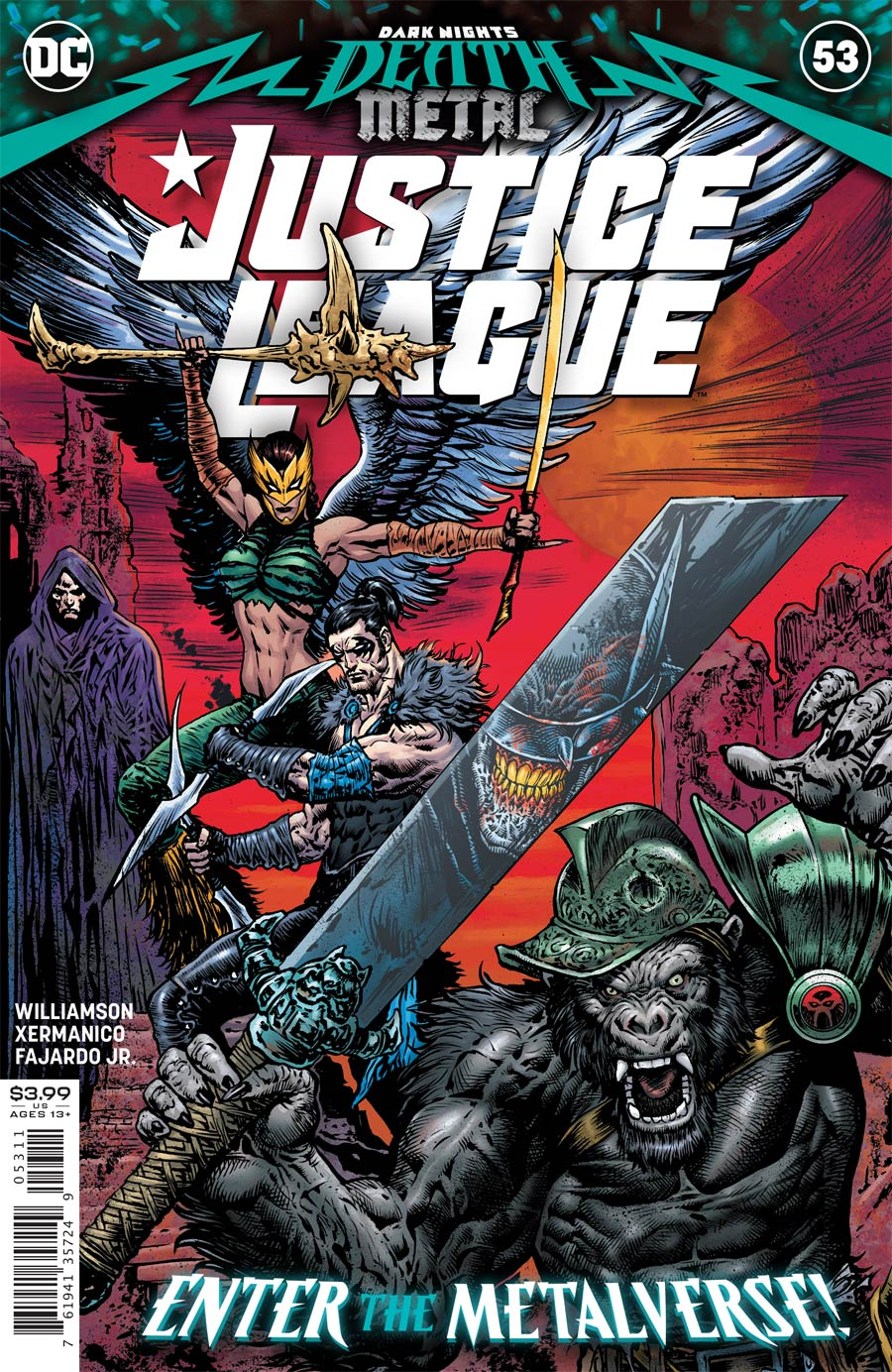 Justice League Vol 4 #53 Cover A Regular Liam Sharp Cover (Dark Nights Death Metal Tie-In)
