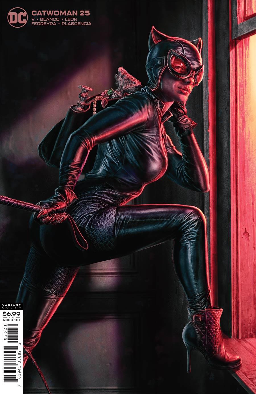 Catwoman Vol 5 #25 Cover B Variant Lee Bermejo Card Stock Cover (Joker War Tie-In)