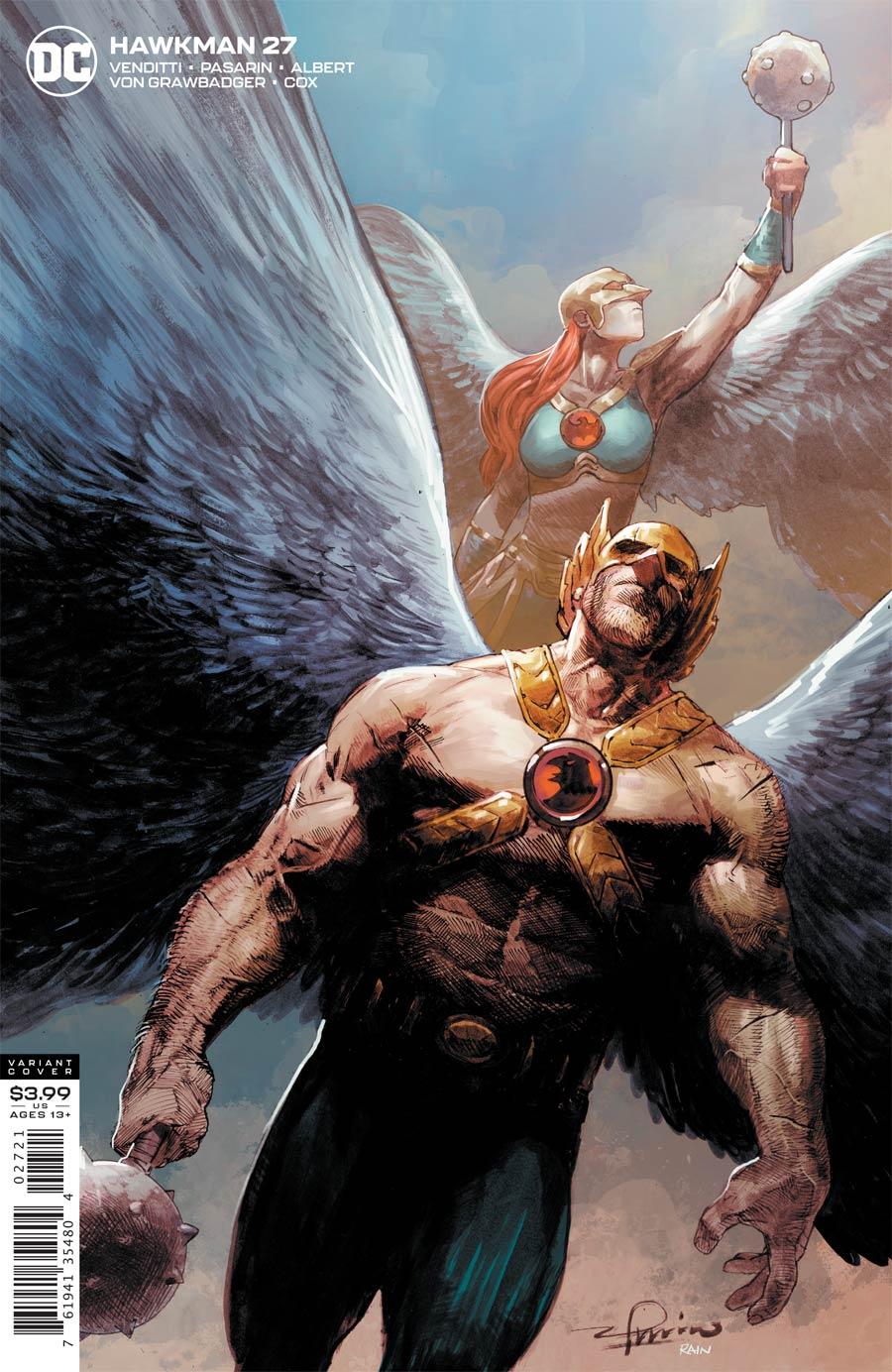 Hawkman Vol 5 #27 Cover B Variant Gerardo Zaffino Cover