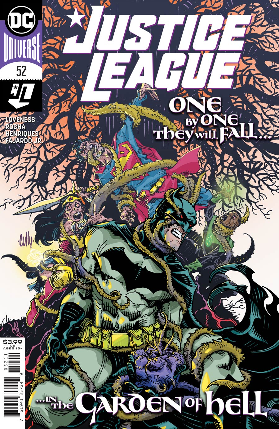 Justice League Vol 4 #52 Cover A Regular Cully Hamner Cover