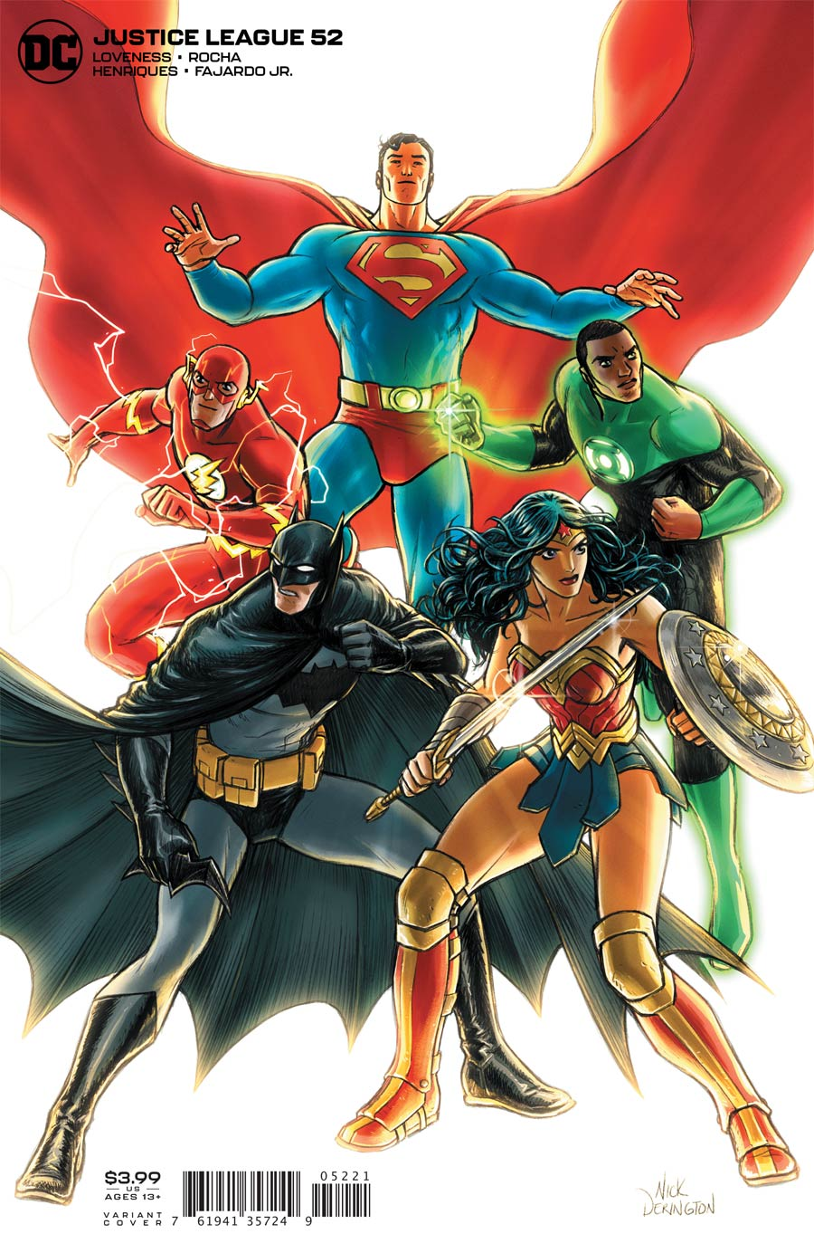 Justice League Vol 4 #52 Cover B Variant Nick Derington Cover
