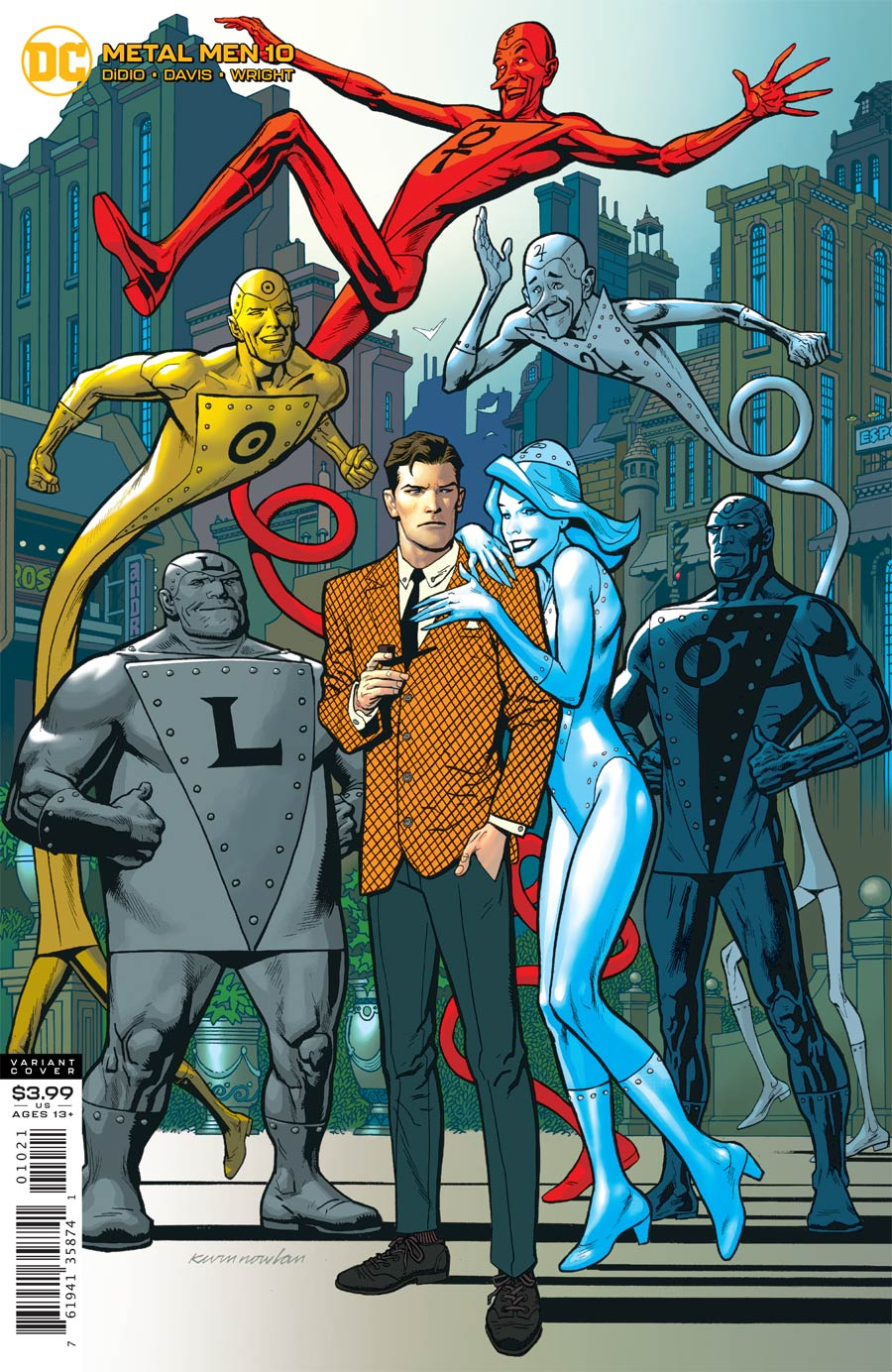 Metal Men Vol 4 #10 Cover B Variant Kevin Nowlan Cover